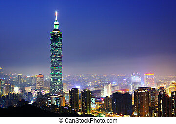 Taipei citsyscape at night