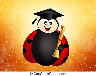 graduate ladybug - ladybug with diploma