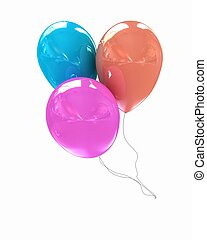 3d colorful balloons