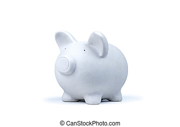 moneybox - white pig money box isolated