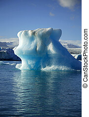 Colossal iceberg on Jokulsarlon lagoon Iceland