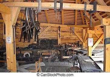 old carpentry workshop