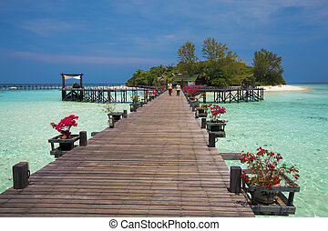 Lankayan Island - Lankayan island resort at daytime in...