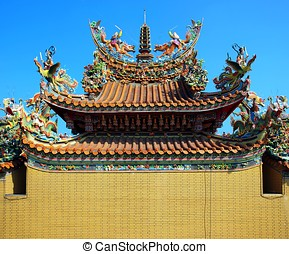 Colorful Chinese Temple Roof