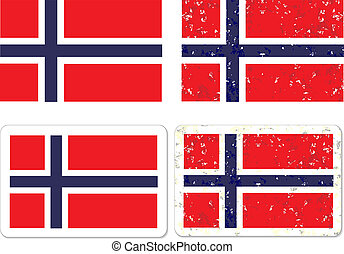 Grunge Norway flag - Grunge Norway flag vector eps 10