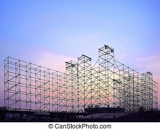 Large Stage Construction for Outdoor Concert - Complex...
