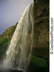 Waterfall at Seljalandfoss - Amazing waterfall at...