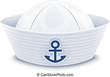 Sailor cap vector illustration isolated on white background...