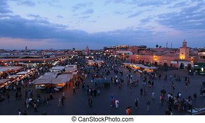 Jemaa el Fna Square in Marrakesh, M - Jemaa el Fna Square...