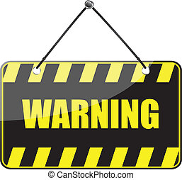warning sign - vector warning sign isolated on the white...