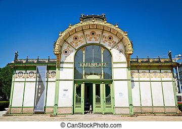 Karlsplatz - subway station Karlsplatz in Vienna, now a...