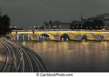 Pont Neuf and Seine, Paris, Ile de France, France