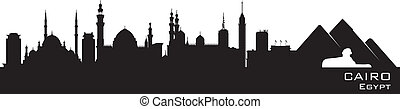 Cairo Egypt skyline Detailed vector silhouette - Cairo Egypt...