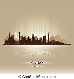 Cairo Egypt city skyline silhouette. Vector illustration