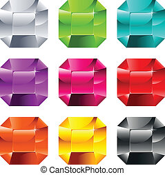 Colorful Shiny Jewels - Set of colorful shiny jewels...