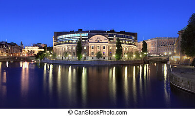 Parlament building in Stockholm