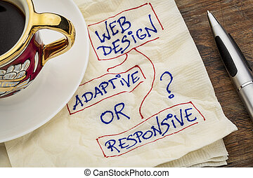 web design question - adaptive or responsive web design...
