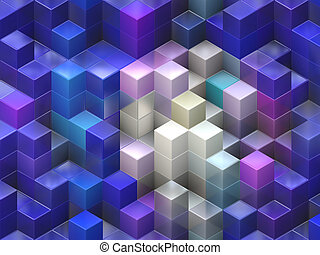 Colorful cubes - Colorful 3d cubes, boxes abstract design...