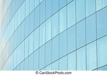 Office building - Windows of the glassy building - selective...