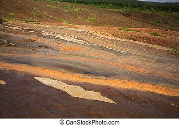 Coloured geothermal landscape