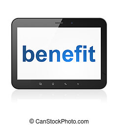 Business concept: Benefit on tablet pc computer - Business...