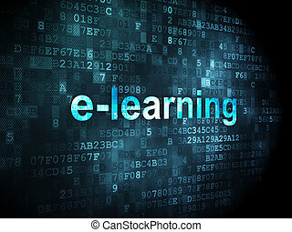 Education concept: E-learning on digital background -...