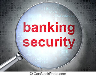 Privacy concept: Banking Security with optical glass