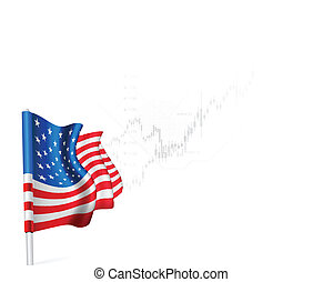 US Flag on background stock illustrations - American Flag on...