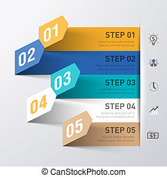 Business process - Abstract infographics template