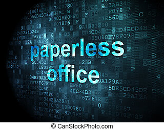 Finance concept: Paperless Office on digital background