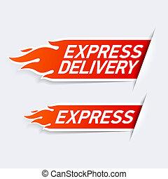 Express delivery symbols illustration