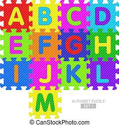 Alphabet puzzle pieces - Set 1