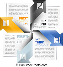 Arrows infographics design template