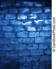 Blue ice wall - wall of ice with blue backlight