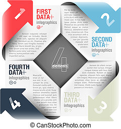 Arrows cycle infographics - Design element