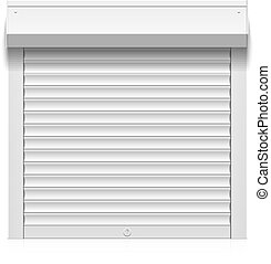 White roller shutter - Roller shutter illustration