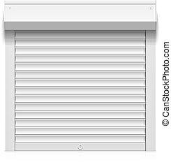 White roller shutter - Roller shutter illustration