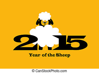 2015 Year of the Sheep - illustration of Chinese New year...