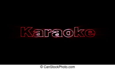 Karaoke - HD animation with elements explosion