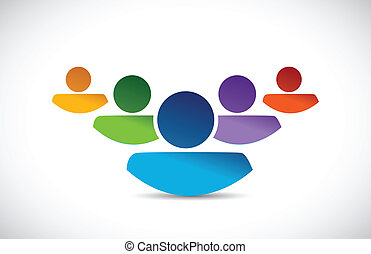 team work people illustration design