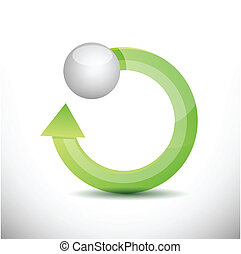 cycle and sphere illustration design