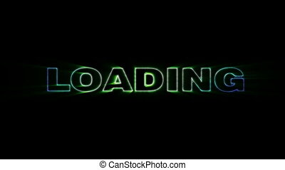 Loading - HD animation with elements explosion