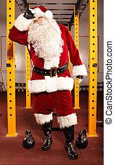 Santa Claus - break in training