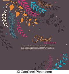Floral background - Vector illustration of floral background