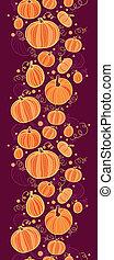 Thanksgiving pumpkins vertical border seamless pattern...
