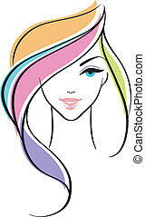 Beautiful woman - Vector illustration of Beautiful woman