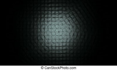 Gray Lattice on Black, Seamless Loop Animated Fractal