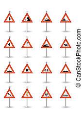 danger sign set