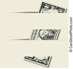 A slotted, vector background with a hidden Dollar Bill