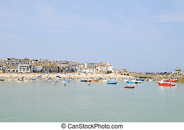 St Ives in Cornwall, England. On a sunny day in the summer...